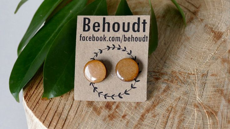 Clear wooden earrings by Behoudt. Shop on Hello Pretty or find us on Facebook.