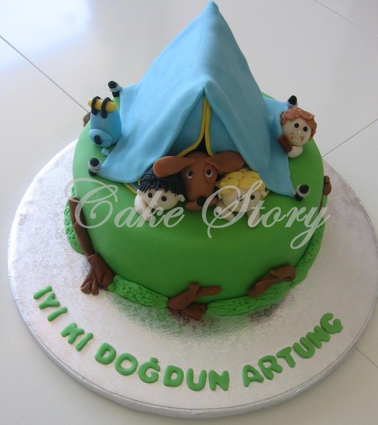 Campers birthday cake... kampçılar doğum günü pastası