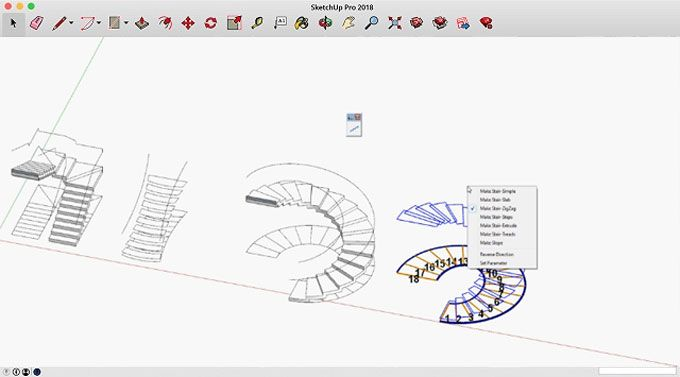 Huynh Duong Phuong Has Developed S4u Stair It Is A Newest Sketchup Extension That Is Used To Create Stair Ramp From Faces In 2020 Stairs Videos Tutorial Development