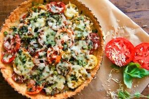 "Heirloom Tomato and Mozzarella Tart from Ricky Lauren's ""The Hampton..."