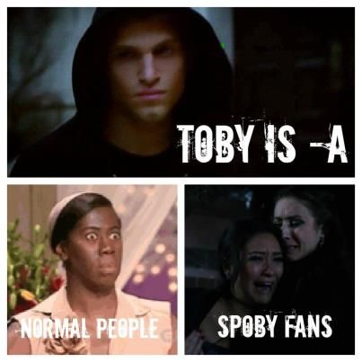 I'm <3broken...i find my true love and he turns out to be a psychopath. HOW CUD U, TOBY? #pll #spoby #betrAyal