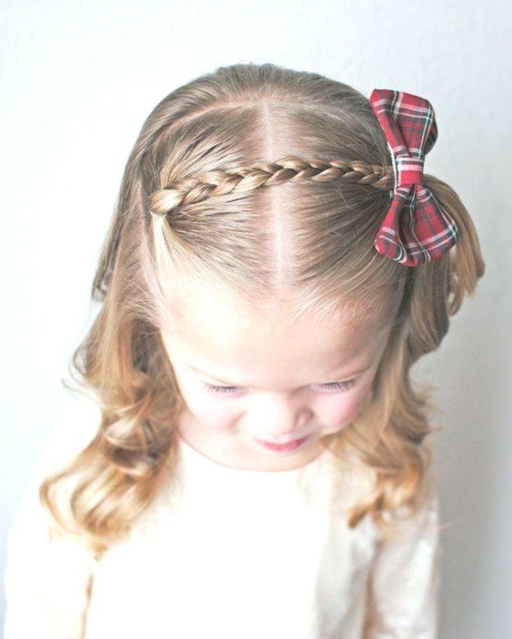 einfache frisur für kleine mädchen zopf fliege #hair #