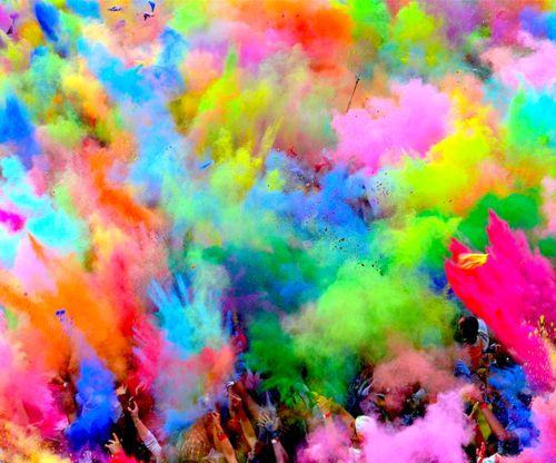 Color Run... Awesome time!!  My sneaks are still colorful 2 months later...