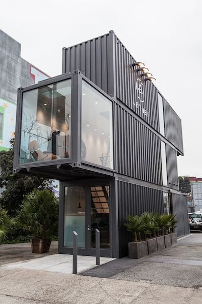 VIDEO: Aether's first brick and mortar retail location recently opened San Francisco. The shop is uniquely constructed from three shipping containers, and is now home to an even more intriguing inventory system. To maximize space, the Aether team incorporated a custom-built rotating rack that spans all three floors //