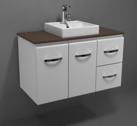 Gateway 900 Wall Hung Vanity with Caesarstone Top | Bathroomware House