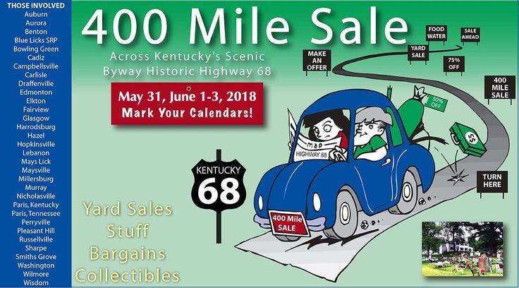 400 Mile Sale Across Kentucky Along Historic Hwy 68