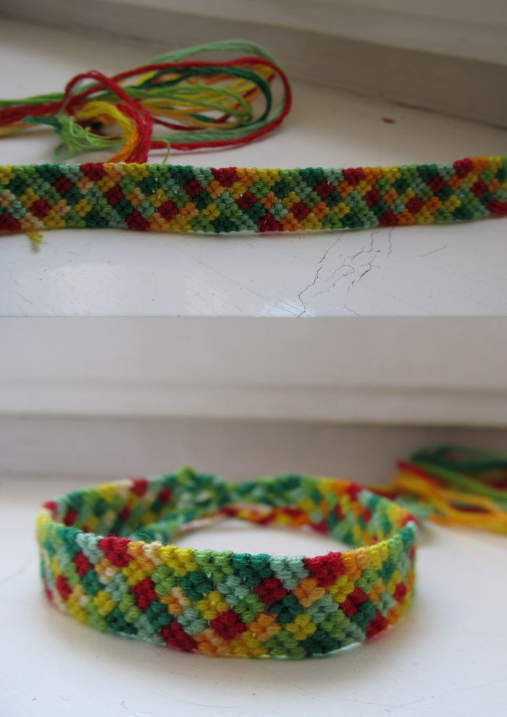 colourful, checked friendship bracelet, hello summer*.*