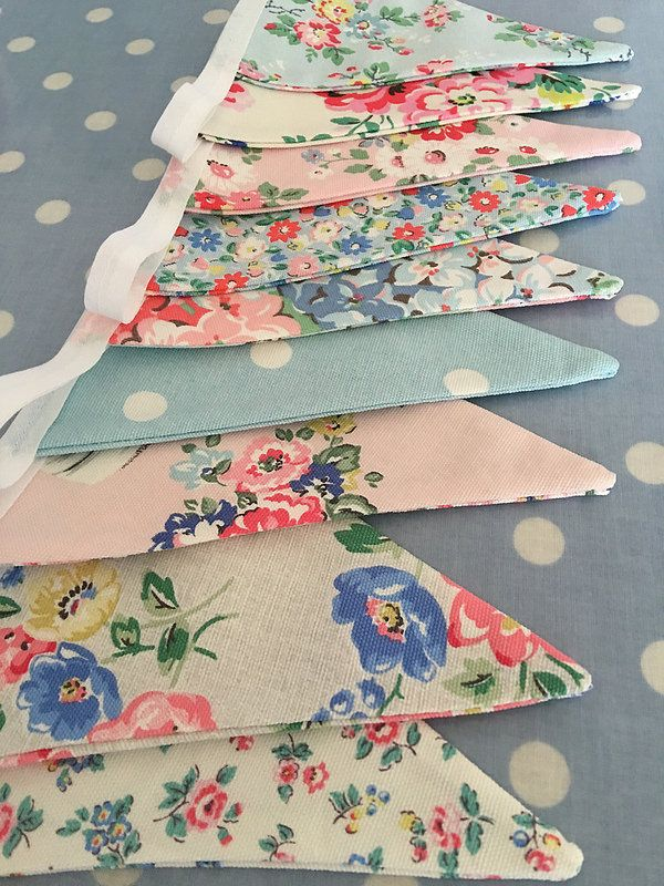 Cath kidston fabric buntings | by patchwork and lace