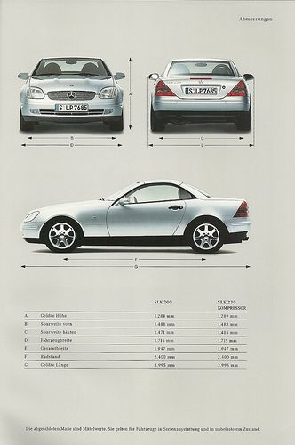 Mercedes SLK brochure 1997. From 2006 to 2008. Loved it