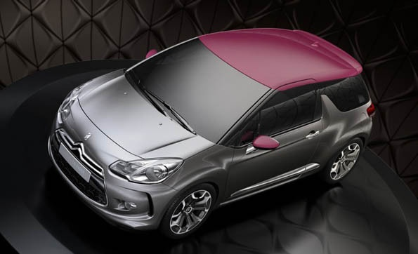 Citroen Ds 3.  Love that pink colour.