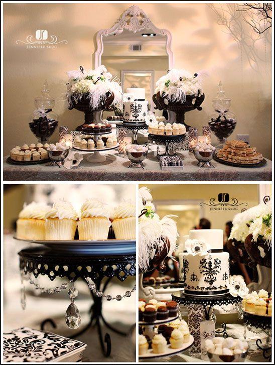 Black & White Dessert Buffet