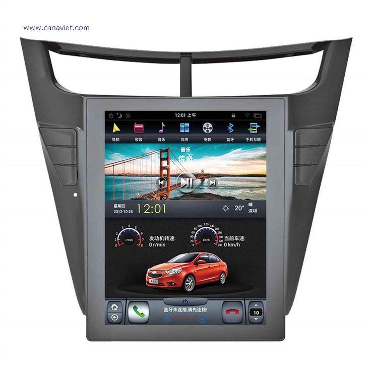 vertical screen tesla android autoradio car multimedia stereo gps navigation dvd radio audio sat nav head unit chevrolet sail 3