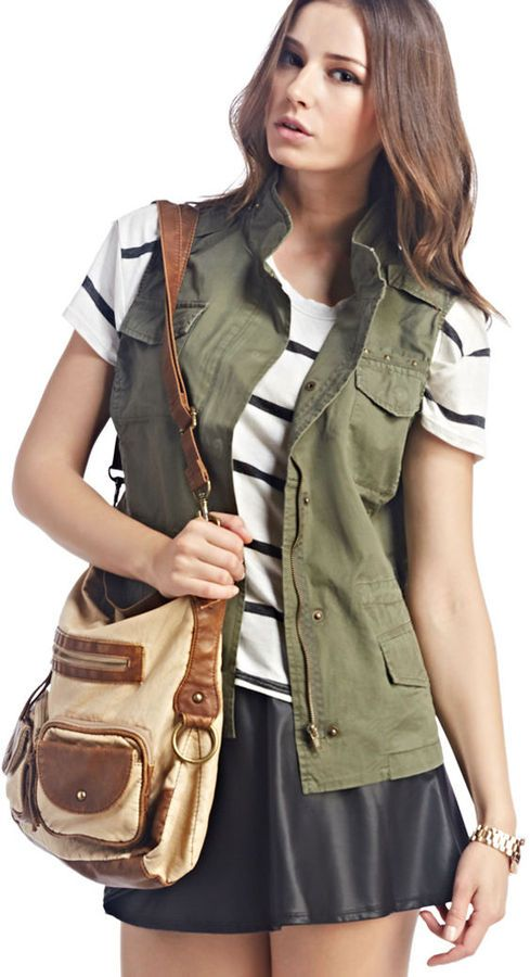 Wet Seal Studded Military Vest on shopstyle.com