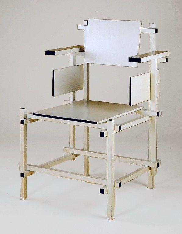'Hogestoel' highback chair, Gerrit Rietveld ; Gerard A. van de Groenekan