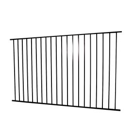 Monroe Black Steel Decorative Fence Panel (Common: 8-ft x 5-ft; Actual: 7.97-ft x 4.96-ft)