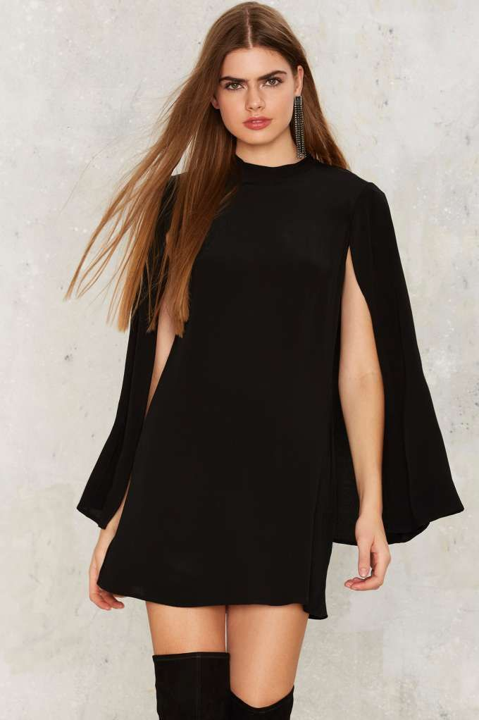 All Over It Cape Dress - Last Chance | Best Sellers | Cocktail Dresses | Black Dresses | Black Friday Clothes | Clothes