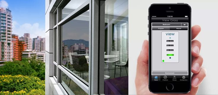 dynamic glazing , monitors heat and light and adjusts