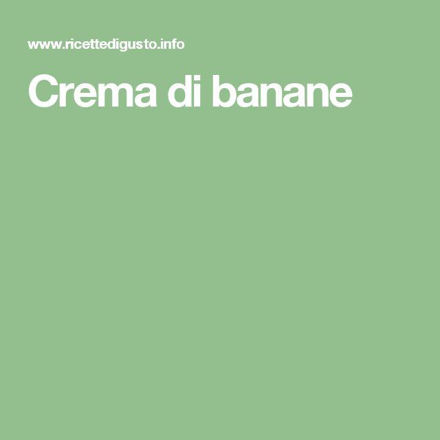 Crema di banane