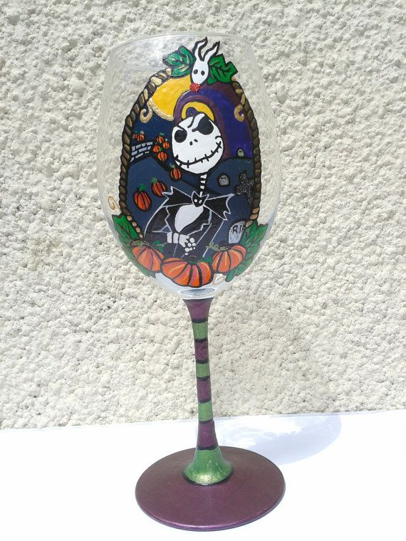 Jack Skellington from The Nightmare Before Christmas Design Large Wine Glass
