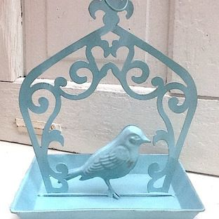 French Farmhouse Bird Feeder, Aqua by Camilla Cotton