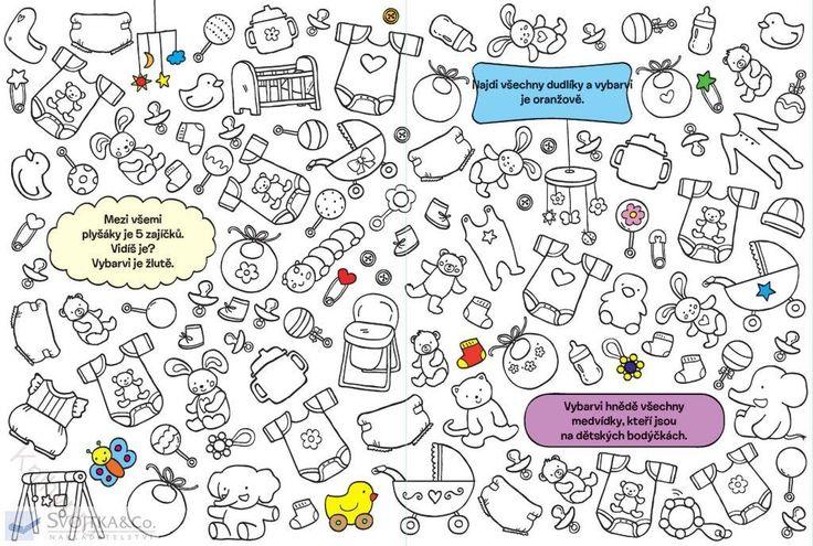 MALOVÁNÍ, KRESLENÍ | Hledej a vybarvuj V domě a na zahradě | Knihypro - dětské knihy