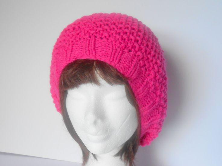 Women's Hat. Winter Hat. Knit Hat women. Chunky knit Hat. Hat with pom pom. Women's winter hat. Slouchy knit hat. Women Accessory. by AluraCrafts on Etsy