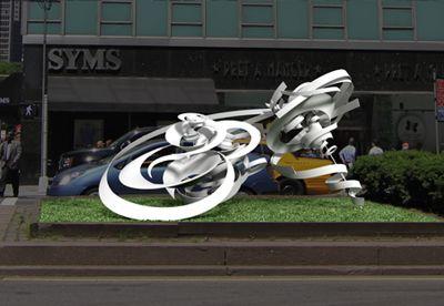 Alice Aycock - Park Avenue Paper Chase 2014. #sculpture #sculptor #manhattan #newyorkcity #bigapple #nyc #art #artist #white #spirals #patterns #publicart
