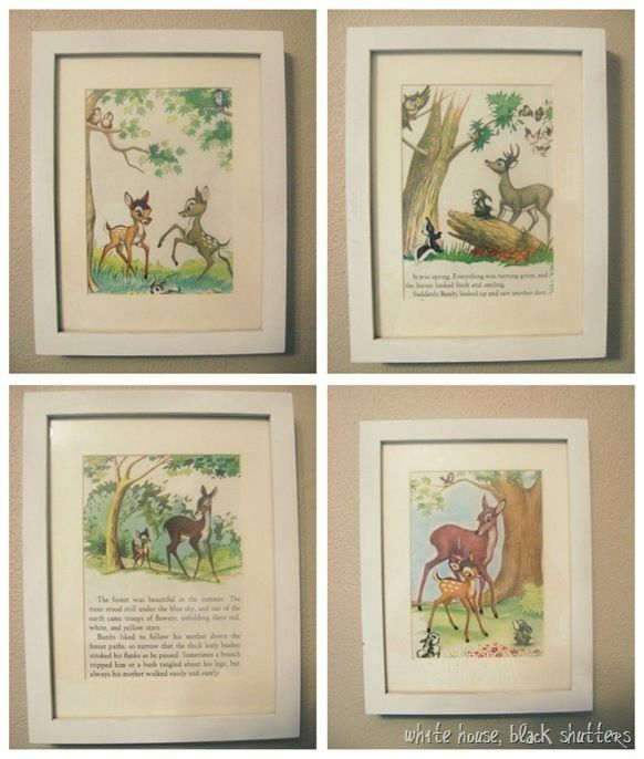 Little Golden Book Wall Art Turn Old Children S Books Into Wall Art 1000 In 2020 Book Wall Art Storybook Art Book And Frame