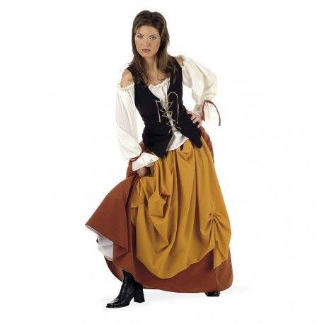 ¿Vas a asistir a una feria medieval? Este disfraz de campesina te convertirá en una auténtica mujer del medievo. Caracterízate de una mujer de campo de esta época con un disfraz Fabricado en España.