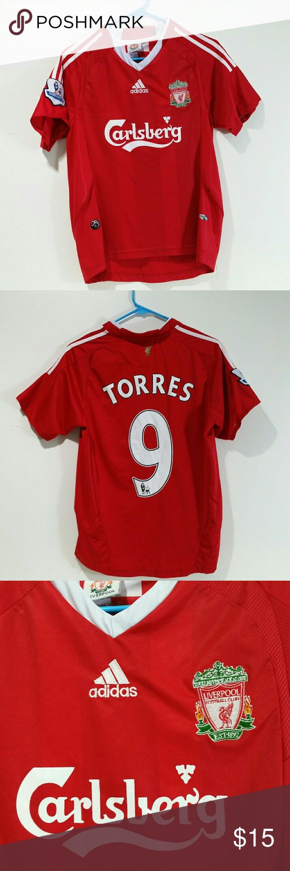 Adidas Liverpool Football Soccer Jersey Torres Liverpool ...