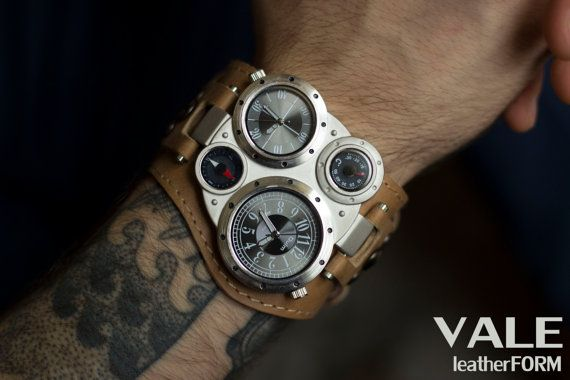Men watches, Women watches, brown leather watch, mens watch, watch mens, watch strap, steampunk watch, large watches, watches for men