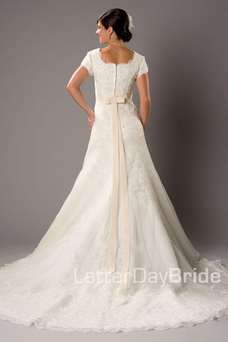 78 best wedding dresses images on pinterest short for Elegant modest wedding dresses