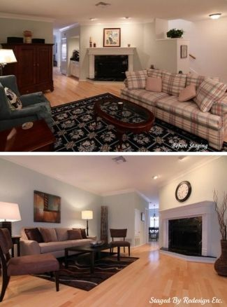 Living Room Before & After By Redesign Etc. Home Staging