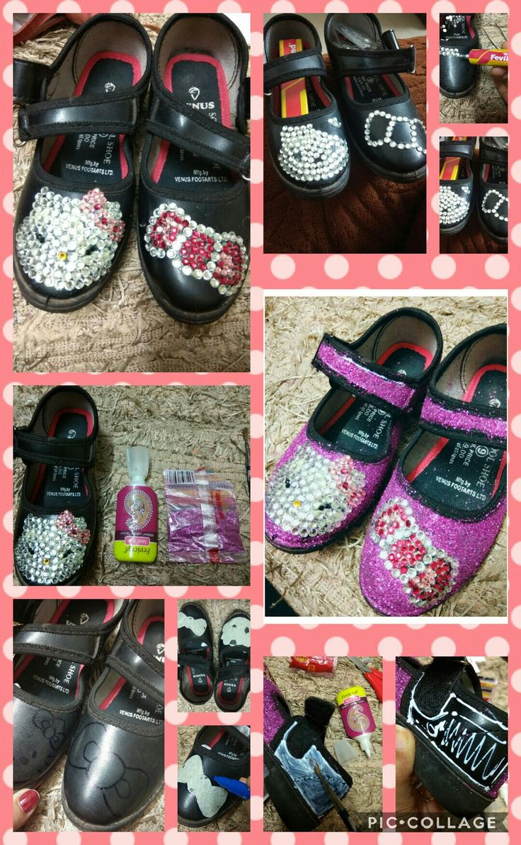 DIY hello Kitty shoes...