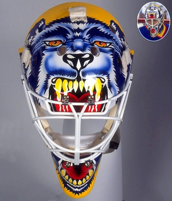st. louis blues goalie mask | Best NHL Goalie Masks of the '90s - Curtis Joseph | Sports Illustrated ...