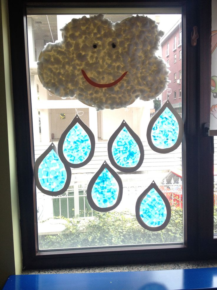 Rain drops, weather crafts, water cycle
