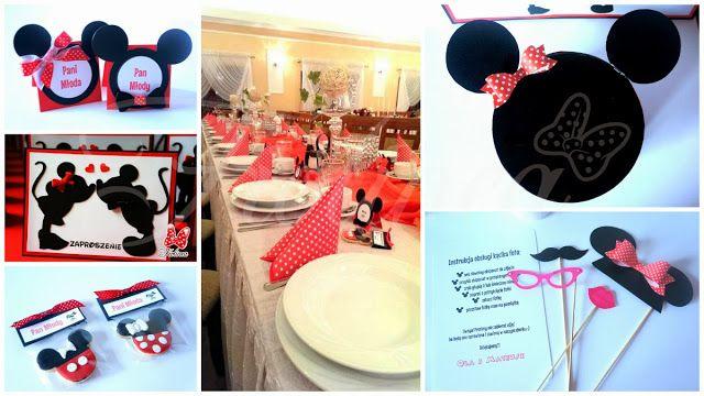 Fiolinea - Ślubna Galanteria Papiernicza: Wesele z Mickey i Minnie Mouse
