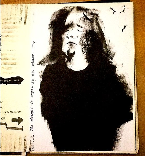 Speed drawing, sketch ( paper, ink )