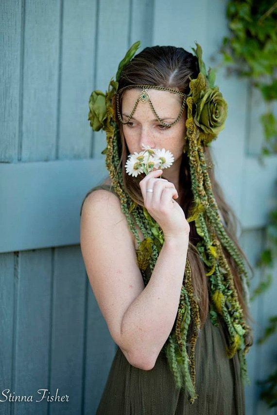 Headdresses Pagan Wicca Witch:  Forest Fairy #Headdress, by RadhasLoveDesigns777.