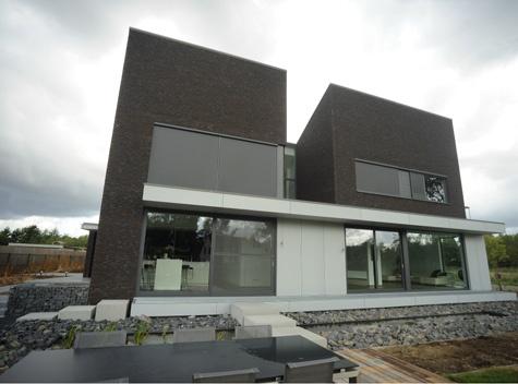 Zwarte gevelsteen witte gevelbekleding grijze stenen en water werkidee e e pinterest - Grijze en zwarte kamer ...