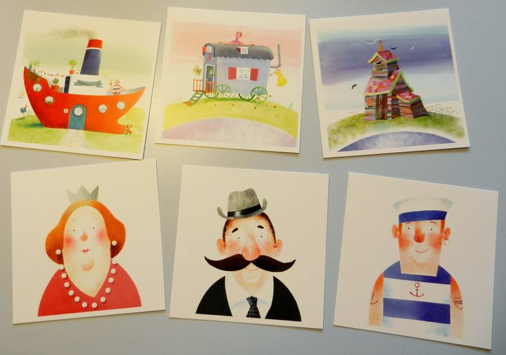 my new postcards! ill. from On our street/Bij ons in de straat