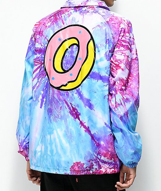 1c82d65a4150 Odd Future Purple   Pink Tie Dye Coaches Jacket in 2019