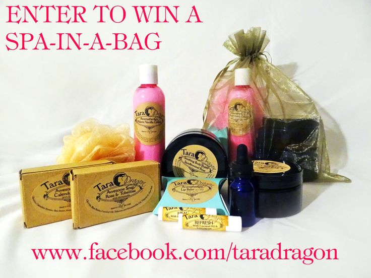 Enter to win a FREE Spa-In-A-Bag!!! http://www.taradragon.com/enter-drawing-for-spa-in-a-bag---subscribe-.html