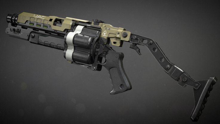 ArtStation - Doom 4 | Grenade Launcher , Jeremy M. Brown