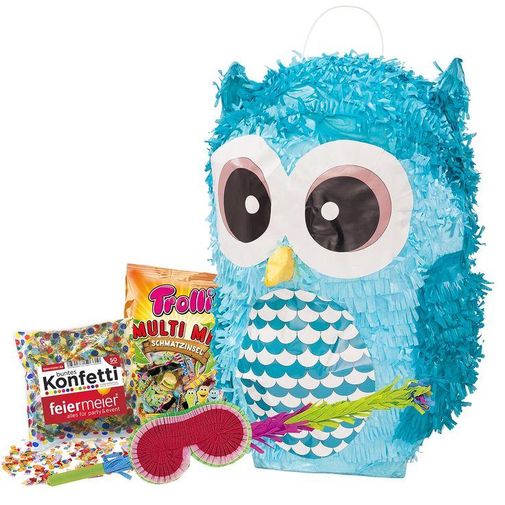 Der Spielzeugtester hat das PINATA-SET: Pinata Süße Eule + Schläger + Maske +… – Spielzeugtester