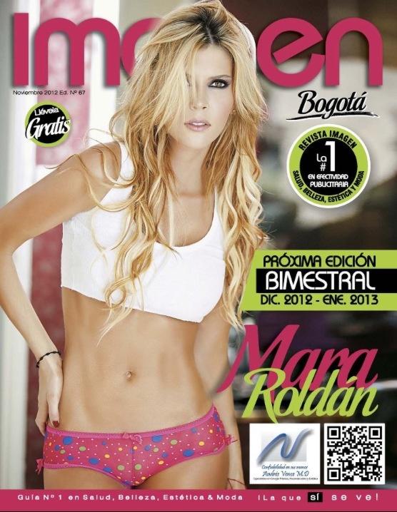 @Mara Roldan portada de la revista #Imagen
