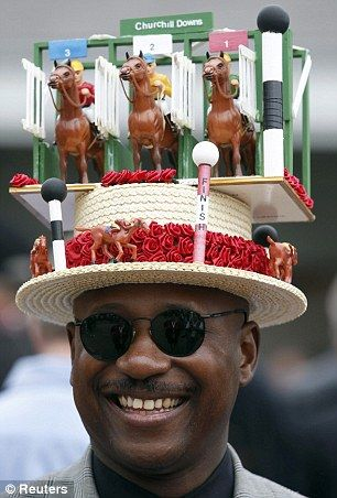 Very creative! I wonder if it's animated. Kentucky Derby hat