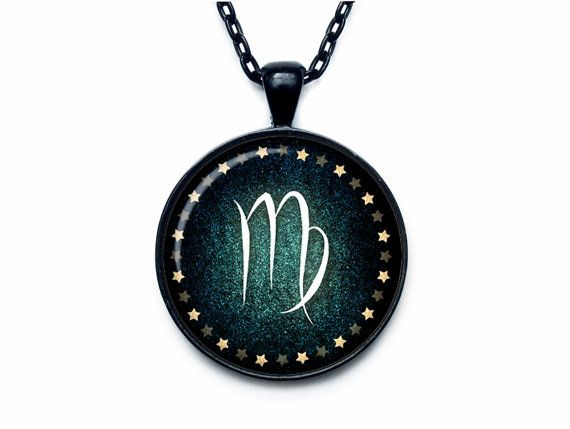 Virgo Necklace Virgo Pendant Virgo jewelry by outofspacejewelry
