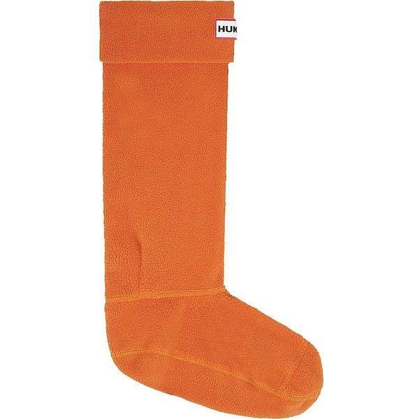 Hunter Boot Sock (100 PEN) ❤ liked on Polyvore featuring intimates, hosiery, socks, madder orange, orange socks, cuff socks and hunter socks
