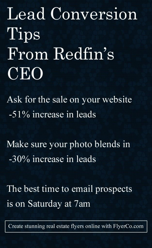 Redfin revealed AMAZING real estate lead generation tactics http://flyerco.com #realestate #realtor
